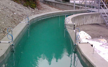 [Translate to espanol:] Application example flow measurement for hydro power
